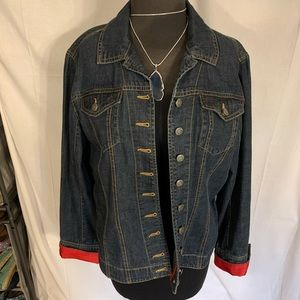 Chico's patriotic denim jacket. Size 12